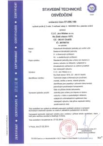 Certifikát Tüv-Süd