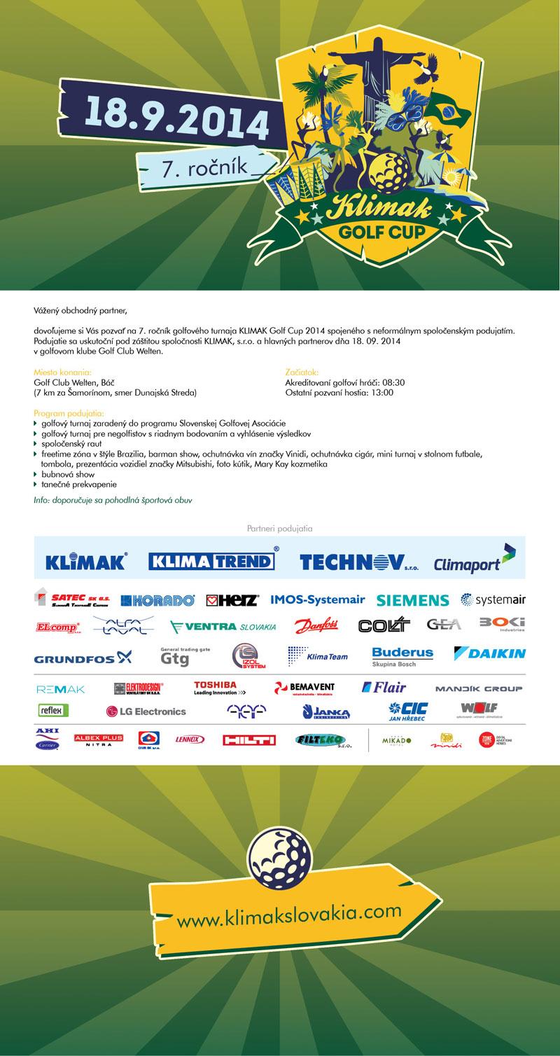 Pozvanka KLIMAK Golf Cup 2014